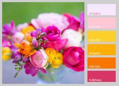 paletas de colores flores /colour palettes flowers