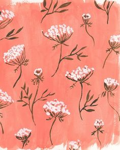 Try This: A Creative Challenge That Celebrates Spring Fall Patterns, Pretty Patterns, Textures Patterns, Floral Patterns, Surface Pattern Design, Pattern Art, Drawing Wallpaper, Queen Annes Lace, Pattern Illustration