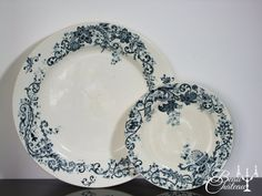 Pair of Antique French Ironstone by BeauChateauBoutique on Etsy