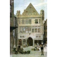 William Turner, Frankfurt, Maine, Painting, Cities, Houses, Photo Mural, Places, Printing