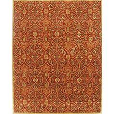 Alliyah Handmade Burgundy New Zealand Blend Wool Rug (8' x 10') $327