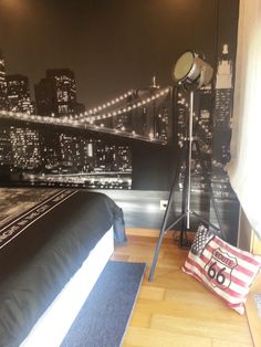 My Teenage Son`s Bedroom Decor...New York Theme