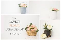 The Lovely Floral Bundle & Set of 12 by aftdesignshop on @creativemarket