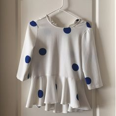 Zara Polka Dot Top Worn 3x, perfect condition :) Zara Basic Tops