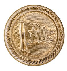 Brass button. Came off an officer's uniform when their body was removed from the water by a crew member of CS Minia.