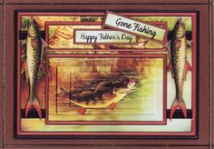 3D 'Happy Father's Day' - 'Gone Fishing' Card