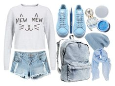 """""""I land on my feet"""" by atarituesday ❤ liked on Polyvore featuring H&M, adidas, Phase 3, Humble Chic, Marc Jacobs, Deborah Lippmann, Lime Crime and Stila"""