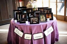 Display family photos — past and present — on a special table.Photo Credit: Kim Fox Photography