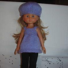 Tenue leggings tunique béret les chéries, paola reina, little darling 33 cm