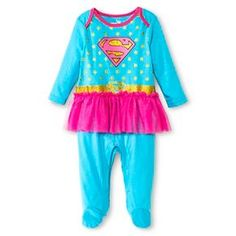 Supergirl Newborn Girls' Coveralls with Tutu