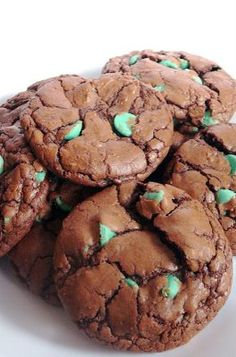 Baked Perfection: Chocolate Mint Chip Cookies (a.k.a Polka Dot Cookies)