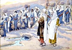 Moses Smites the Rock in the Desert, by James Tissot