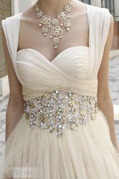 Graceful A-Line Floor-Length Sweetheart Empire Waistline Beadings Prom Dresses  Formal Dresses d6f7b986145d