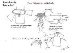 SCA German Renaissance Research: Landsknecht Shirt