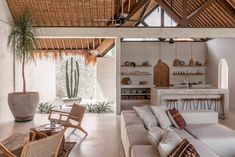 Bali Style Home, Summer Deco, Beautiful Villas, Open Plan Living, Living Spaces, Living Area, Cozy Living, Living Room, New Homes