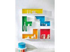 Bring Farbe in dein zuhause! Mit den farbenfrohen Wandregal von OBI - Kein Poblem! #OBI #Wohnideen