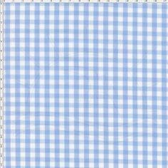 Tecido Estampado para Patchwork - Xadrez 5mm Branco e Azul Claro (0,50x1,40)