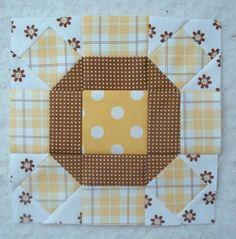 easy square in a square tutorial...like the block but not the colors.