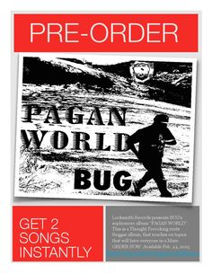 """Locksmith Records presents BUG's sophomore album """"PAGAN WORLD"""". This is a Thought Provoking album, consisting of 12 songs with the hit singles """"Wages of Sin"""" and """"Everybody Going Crazy"""" plus the title track """"Pagan World"""". This is a Reggae roots album. Lock Picking, Press Release, Going Crazy, Maze, Reggae, Thought Provoking, Pagan, Itunes, Roots"""