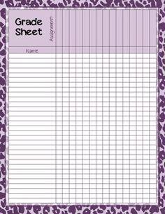 Free - Homework Participation Check/Grade Sheet | 3rd grade here I ...