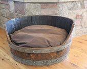 Wine Barrel Dog Bed. $250.00, via Etsy.