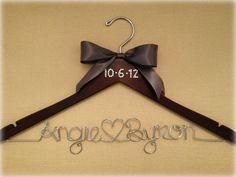 Signature Get Hung Up Bling Wedding Date Bridal Hanger. Brides Wedding dress hanger!
