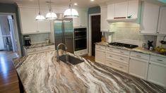 Brown Granite Countertops, Quartzite Countertops, Granite Kitchen, Kitchen Countertops, Kitchen Cabinets, Kitchen Backsplash, Fantasy Brown Quartzite, Fantasy Brown Granite, Brown Kitchens