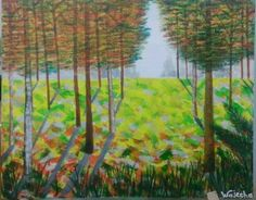 """""""The Colours Of Fall"""" - Oil and Acrylic Painting by: Wajeeha Zaheer"""