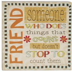 'Friend..Someone Who' Box Sign Wall Décor