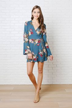 Giada Floral Wrap Front Dress