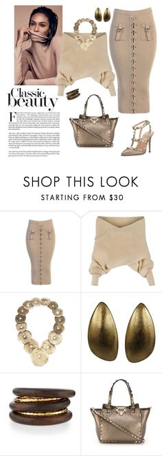 """""""A Classy Classic...."""" by shainaelaine ❤ liked on Polyvore featuring WithChic, Ralph Lauren, Monies, NEST Jewelry and Valentino"""