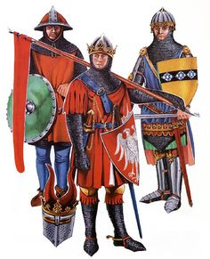 """• Sergeant, c. 1320 • German knight • John de Creke, c. 1325"", Christopher Rothero"