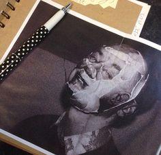 Mask project progression #mask #horrorphotohraphy #portraiture