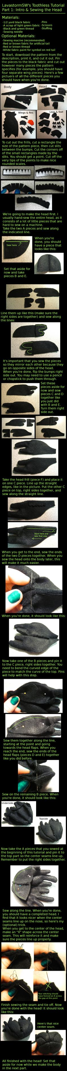 Toothless Tutorial Part 4 by LavastormSW on DeviantArt Sewing Toys, Sewing Crafts, Sewing Projects, Cosplay Tutorial, Cosplay Diy, Craft Tutorials, Sewing Tutorials, Toothless Costume, Stuffed Animal Patterns