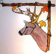 Deer Window corner hanging Right Stained Glass Stained Glass Ornaments, Stained Glass Crafts, Stained Glass Designs, Stained Glass Patterns, Stained Glass Windows, Window Glass, Glass Door, Tiffany Glass, Glass Animals
