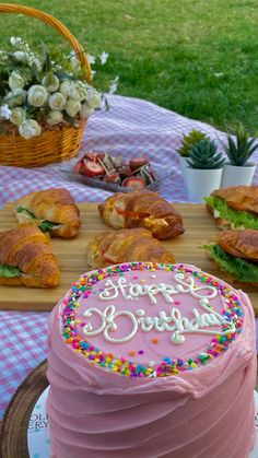 Pretty Cakes, Cute Cakes, Sweet 16 Birthday, Birthday Cake, Pinterest Cake, Picnic Date, Brunch Party, Cake Board, Food Is Fuel