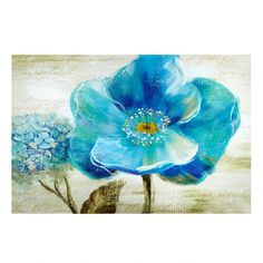 Nan F Premium Thick-Wrap Canvas Wall Art Print entitled Blue Poppy Poem II Abstract Canvas, Canvas Wall Art, Canvas Prints, Framed Prints, Big Canvas, Framed Artwork, Decoupage, Blue Poppy, Art Deco Posters