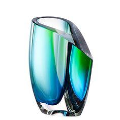 Kosta Boda: Vase, Green Blue