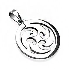 Cyclone Pendants | Blue Steel Jewelry, featuring Stainless Steel, Tungsten and Titanium Jewelry