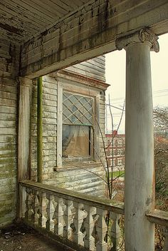 #abandoned Detail from the Flavel house, Astoria, Oregon.