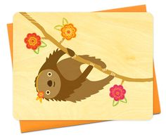 Sylvie Sloth by Night Owl Paper Goods - $6.00