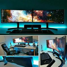 Just an awesome curved montitor setup ;) Life in the PC Master Race Credit to @art1ztk Regrann from @desksetuptour