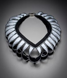 zipper necklace by Kate Cusack