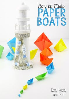 How to Make a Paper Boat - Origami for Kids - Easy Peasy and Fun