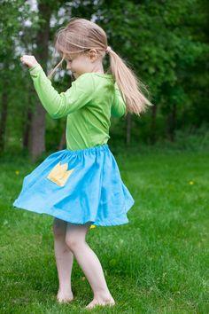 Tyttöjen hame - kruunu | Poutapukimo | Poutapukimo