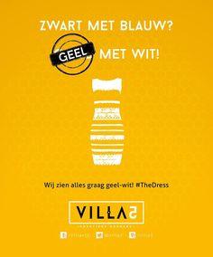 Wij zien alles graag geel-wit! #TheDress