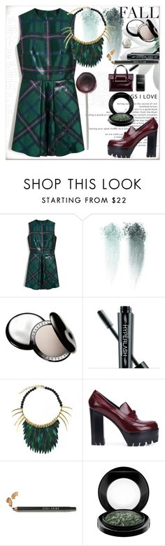 """""""Jumpsuit ..."""" by dragananovcic ❤ liked on Polyvore featuring Mulberry, MANGO, Chantecaille, Smashbox, Ayaka Nishi, Bobbi Brown Cosmetics, MAC Cosmetics, Delpozo, Fall and jumpsuit"""