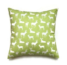 Deer Pillow 18x18 Pillow Cover Decorative by ThePillowToss on Etsy