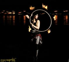Fire Hooping with Morgan McKniff