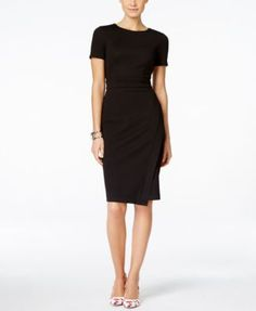 For interviews and presentations. INC International Concepts Sleeveless Textured-Knit Sheath Dress, Only at Macy's